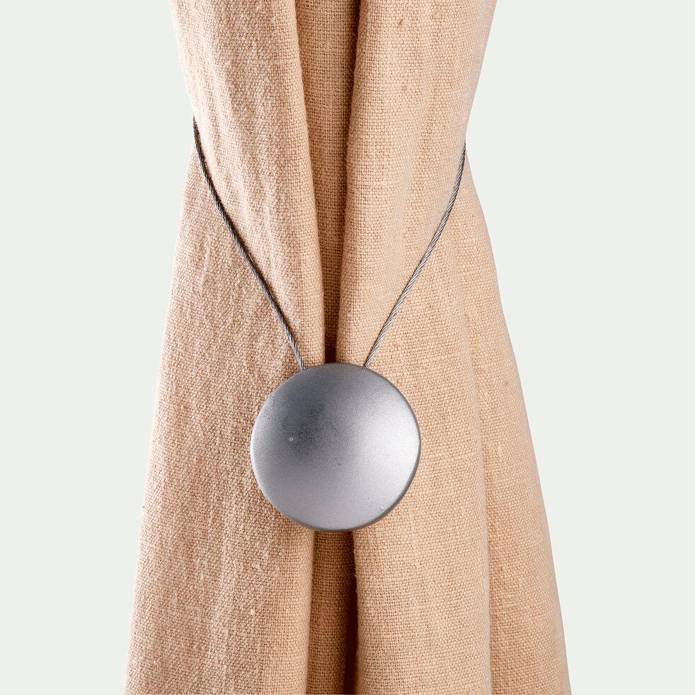 Embrasse magnétique en acier - gris clair-PARIOU