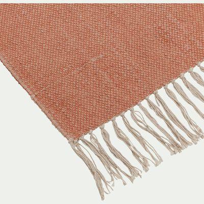 Descente de lit lirette - orange brique 70x140cm-Artus