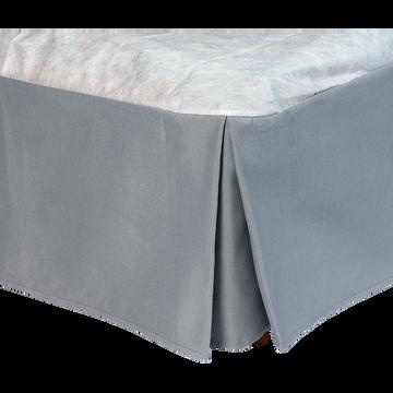 Cache-sommier gris 32 cm - 180x200 cm-OPALINE