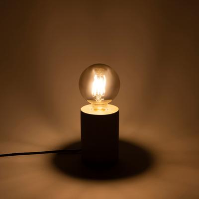 Ampoule LED décorative grise D9,5cm culot E27-GLOBE
