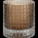 Photophore marron H8cm-LEOPOLD