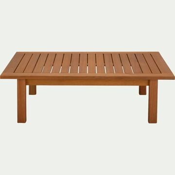 Table basse rectangle en eucalyptus - naturel L120xl80cm-COMODO