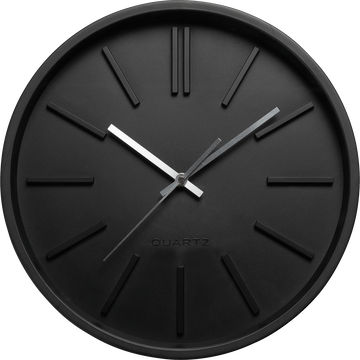 Horloge murale noire D35,5cm-LITTORAL