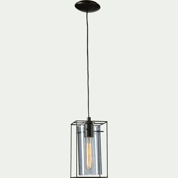 Suspension à 1 lumière en acier - noir H110cm-LONCINO