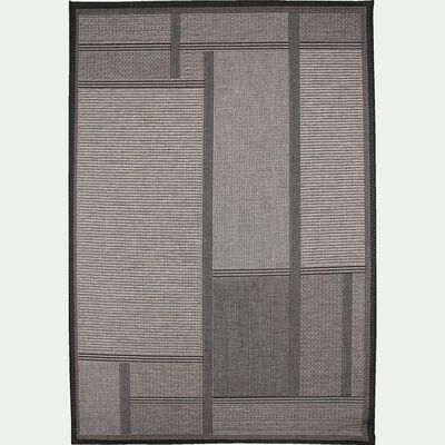 Tapis intérieur et extérieur - gris foncé 160x230cm-LIV