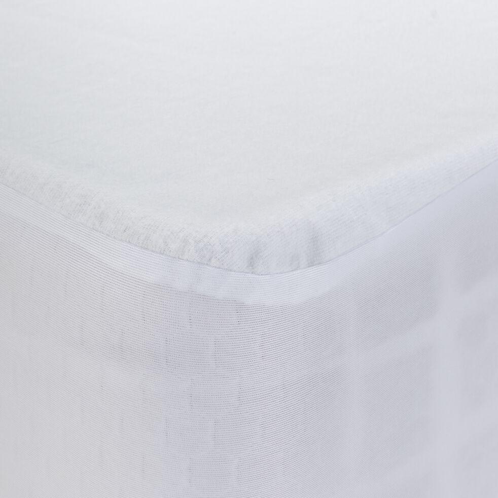 Protège-matelas imperméable en coton recyclé 90x200cm bonnet 25cm-BASILE