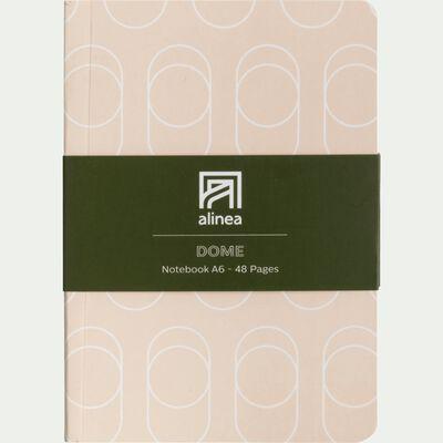 Carnet à motifs beige a6-Dôme