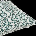 Coussin blanc à motifs vigne vert 30x50 cm-VIGNE