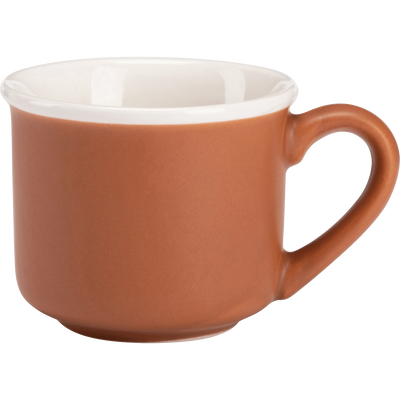 Tasse en porcelaine orange 9cl-CAFI