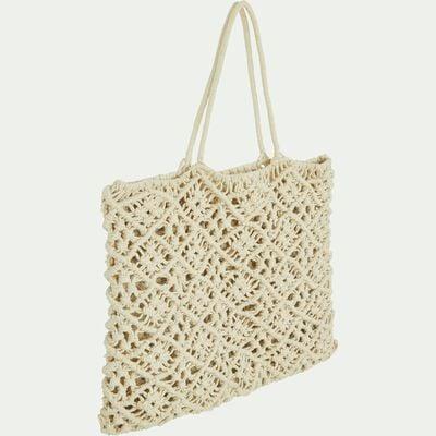 Sac en crochet 100% coton Beige - 40x50 cm-SUZANI