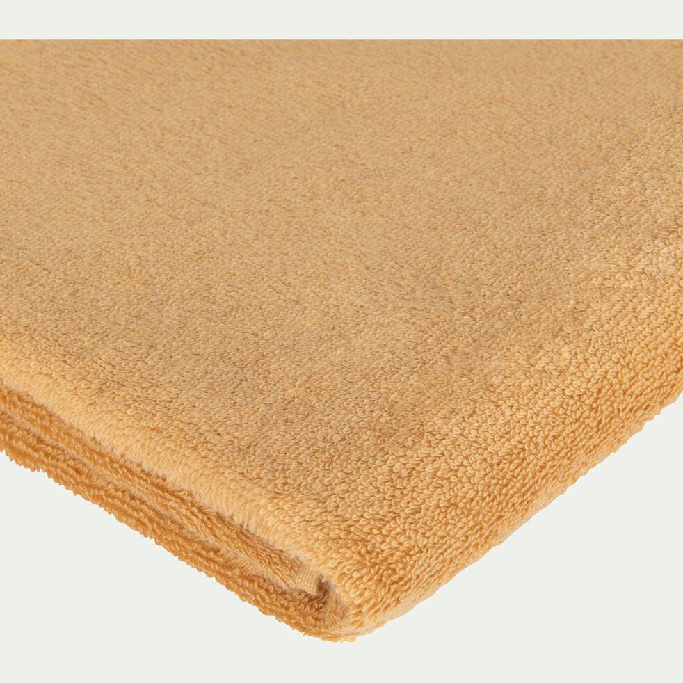 Serviette invité en coton peigné - beige nèfle 30x50cm-AZUR
