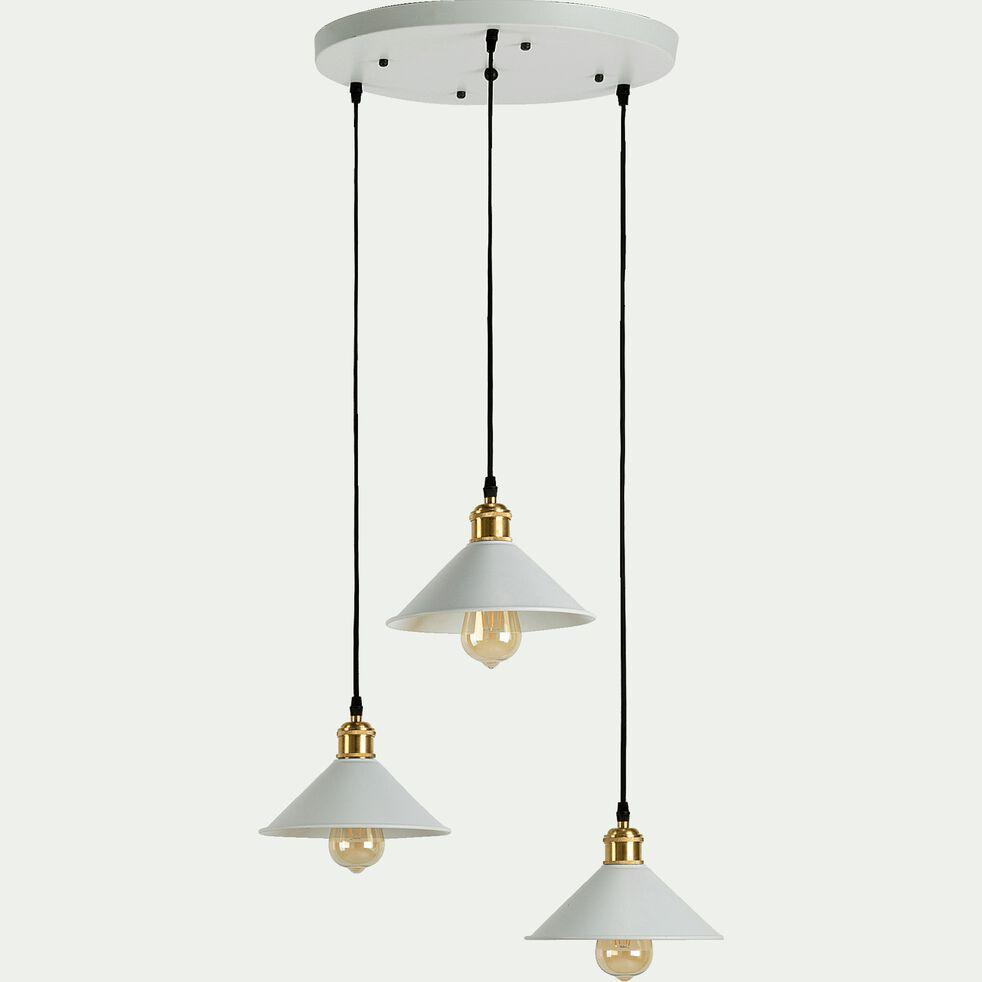 Suspension en métal 3 lampes D35xH100cm - blanc-GIULIAN