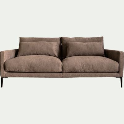 Canapé fixe 3 places en tissu beige alpilles-SOZY
