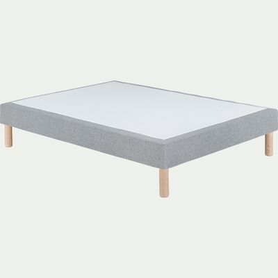 Sommier tapissier 160x200cm gris clair-SORMIOU