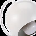 Lampadaire en métal blanc H126cm-BALL