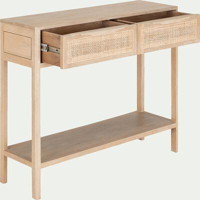 Console 2 tiroirs - cannage-ECUEIL