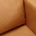 Fauteuil en cuir aniline beige esterel-PALMIE