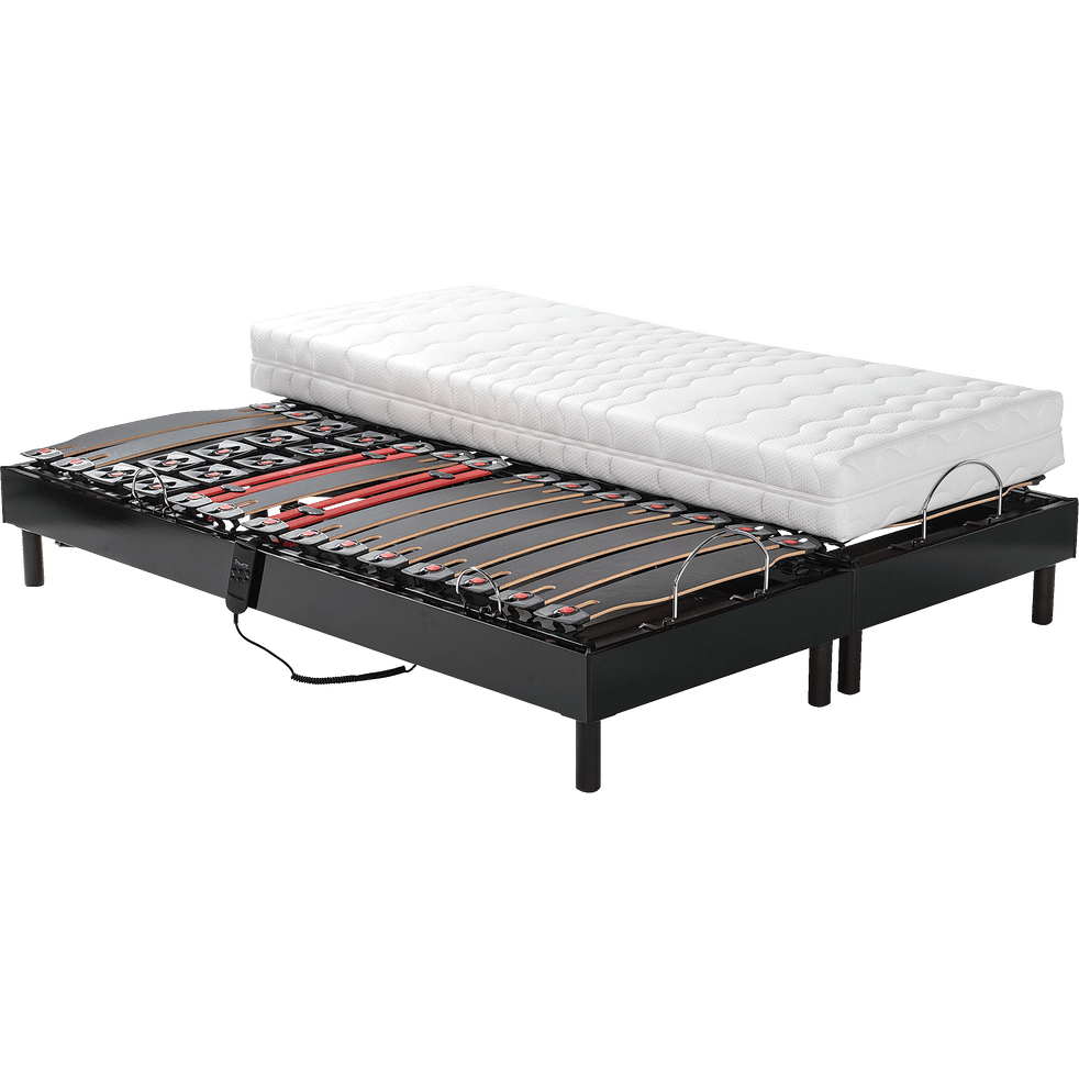 ensemble de relaxation matelas latex et sommier alin a 50 cm 2x80x200 cm xxl 160x200 cm. Black Bedroom Furniture Sets. Home Design Ideas