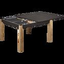 Table de repas carrée extensible effet ardoise - 6 à 12 places-MADON