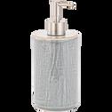 Distributeur de savon en céramique gris clair-PREPPY