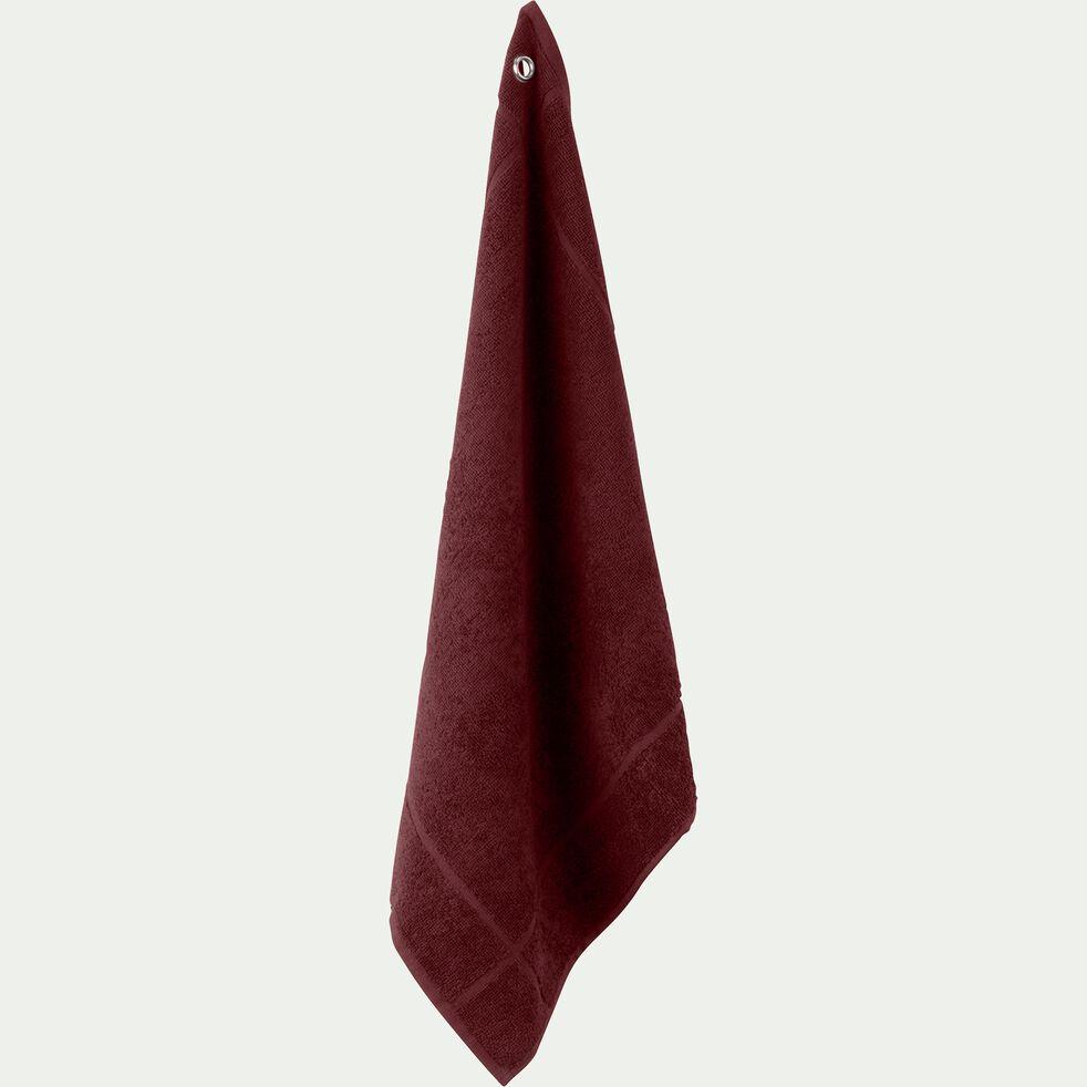 Carré éponge 50x50cm en coton rouge sumac-PANISSE