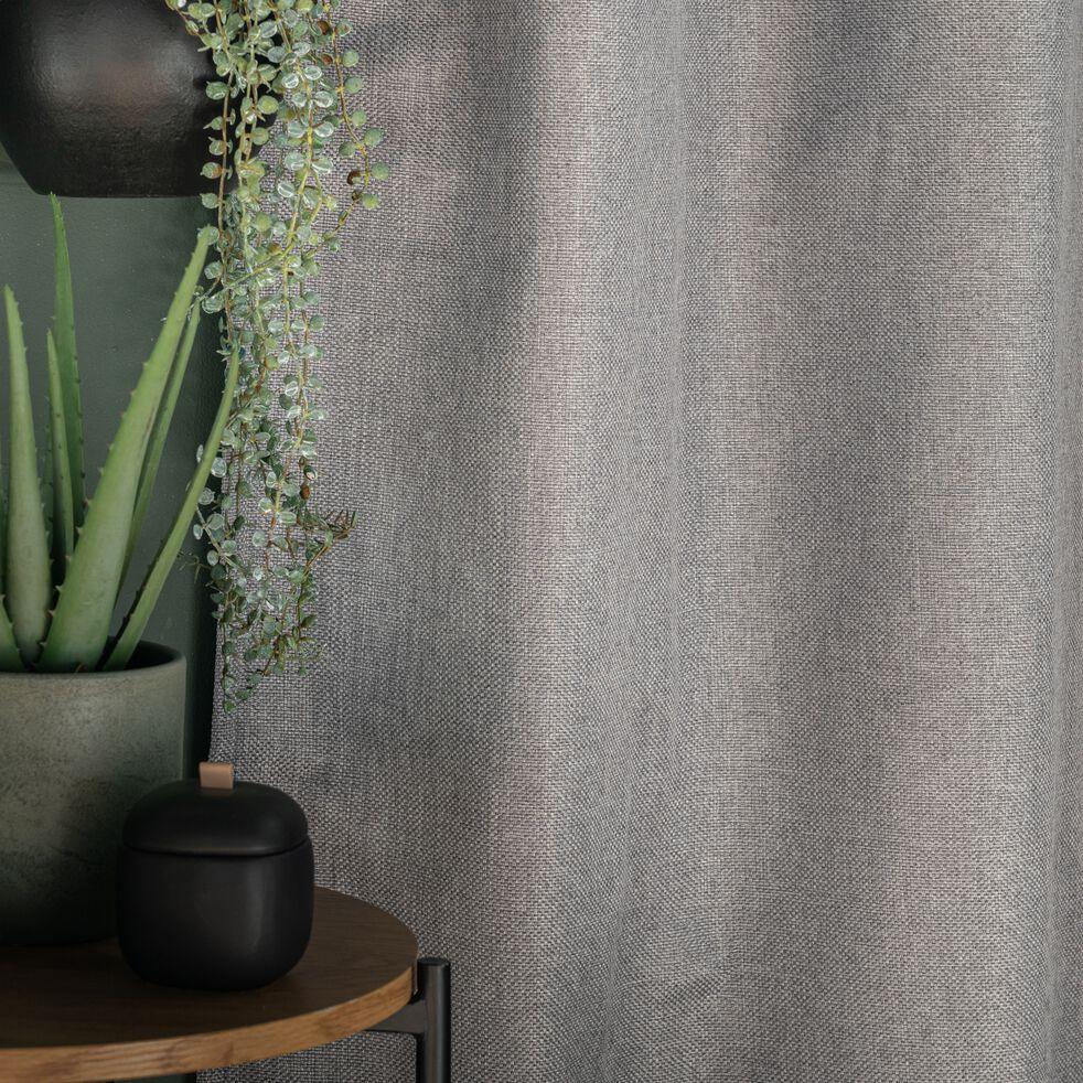 Rideau à œillets en polyester - gris restanque 135x300cm-PINEDE