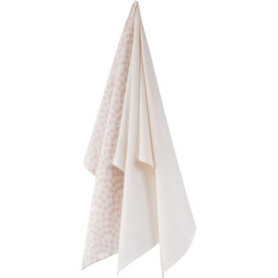 Lot de 3 torchons en coton blanc-FIGUIER