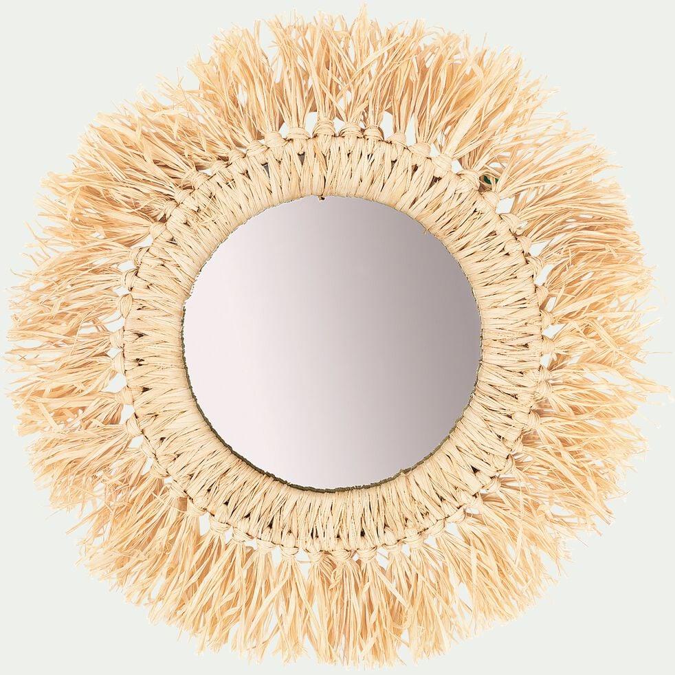 Miroir mural frangé D50cm-OLEO