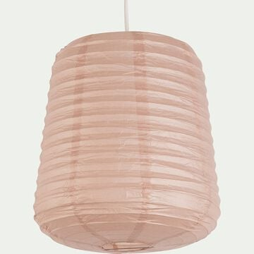 Suspension ovale en papier - rose rosa D27xH32cm-ALOU