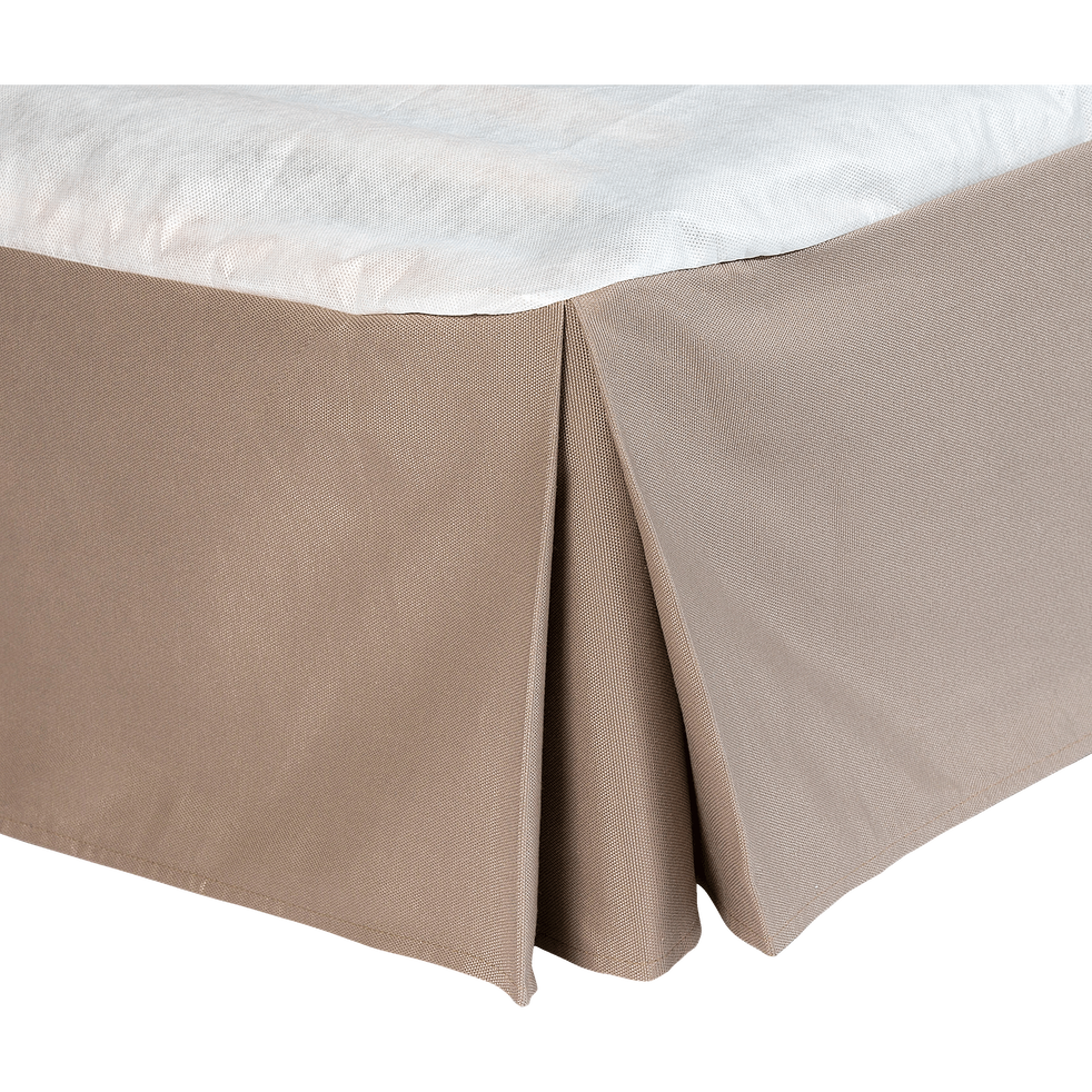 Cache-sommier taupe 32 cm - 160x200 cm-OPALINE