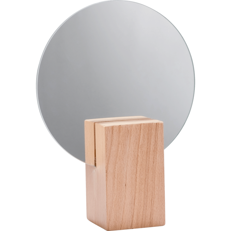 miroir rond en bois d16cm solstice catalogue storefront alin a alinea. Black Bedroom Furniture Sets. Home Design Ideas