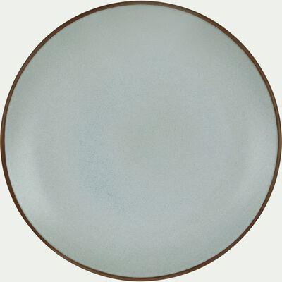 Assiette à dessert en grès bleu clair D22cm-BLACK STONE