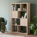 Bloc 1 porte coloris chêne pour meuble à cases L35cm-BRIK
