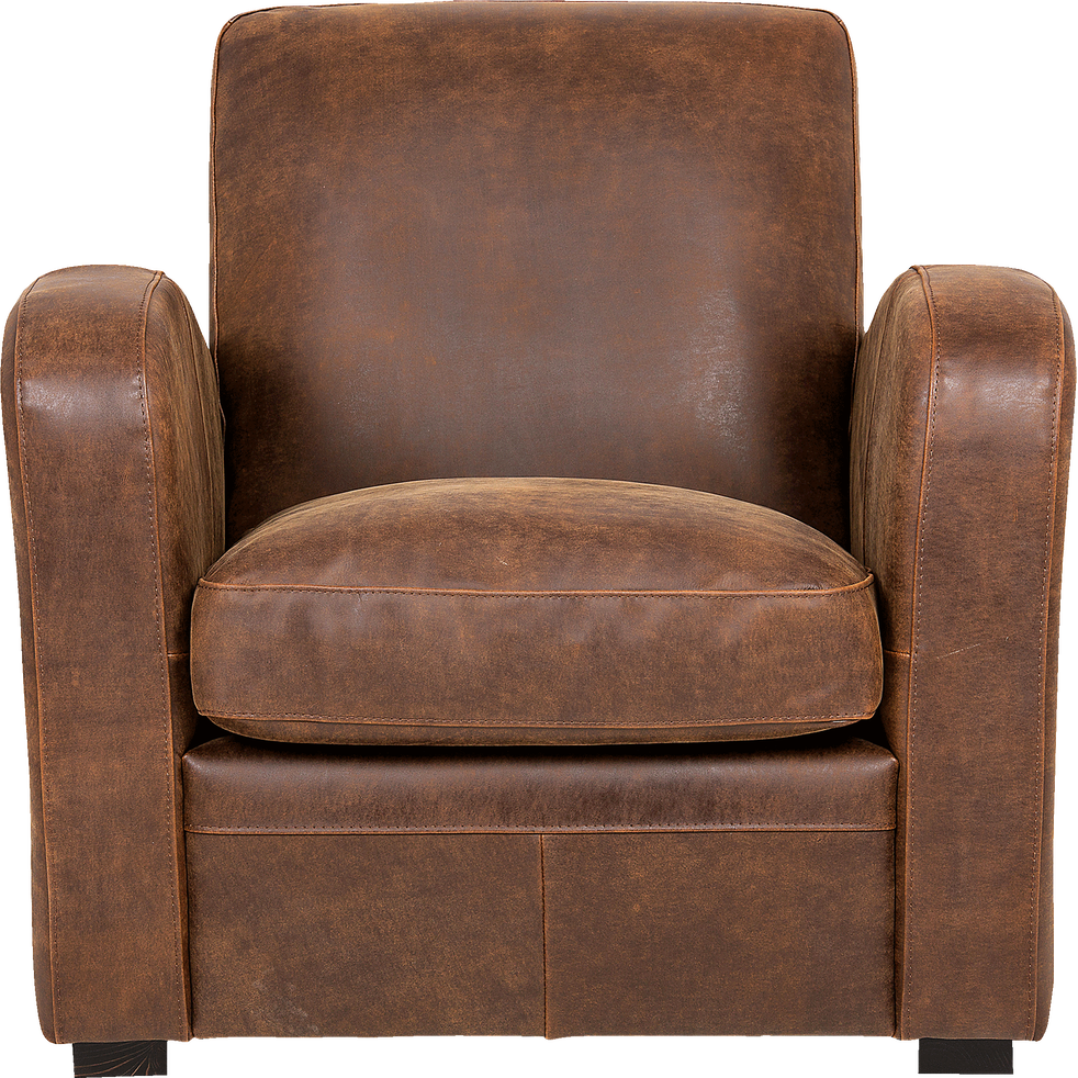 fauteuil de salon en cro te de cuir cuba fauteuils et poufs alinea. Black Bedroom Furniture Sets. Home Design Ideas