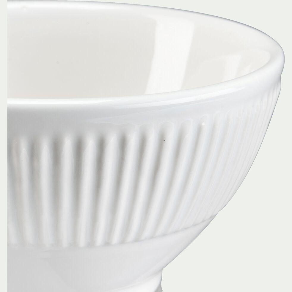Bol en faïence D15cm - blanc-MORA