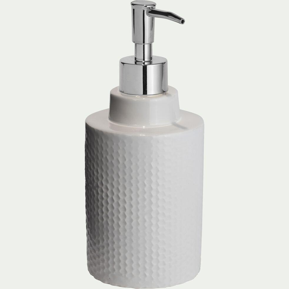 Distributeur de savon en céramique - blanc ventoux H20,5cm-Ghibo