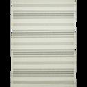 Tapis d'extérieur à rayures gris 200x290 cm-ELOISE