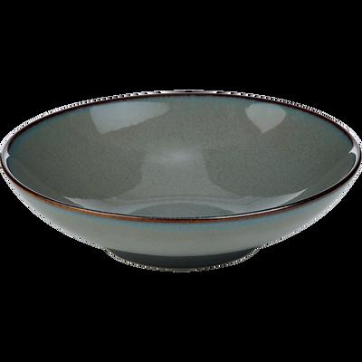 Assiette creuse en grès gris D21cm-SERENA