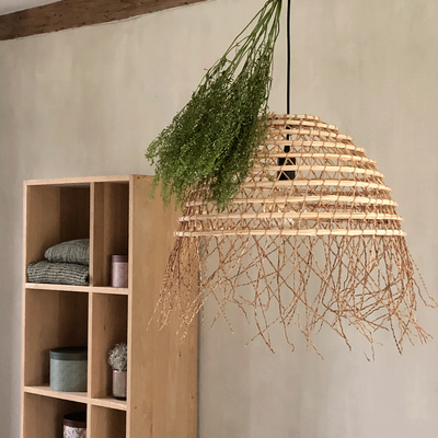 Suspension ethnique en palmier naturel D48cm-MISIA