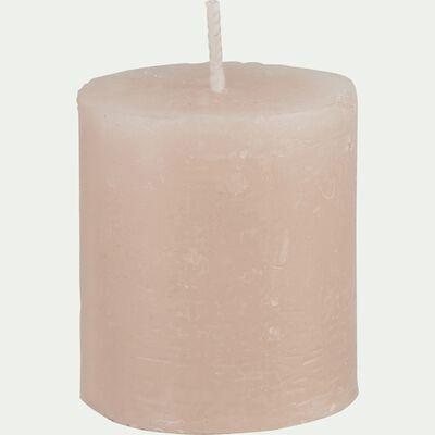Bougie votive rose grège D4xH5cm-BEJAIA