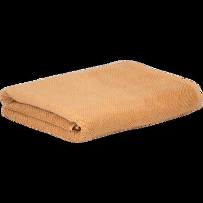 Drap de bain marron camel 90x150cm-COLINE