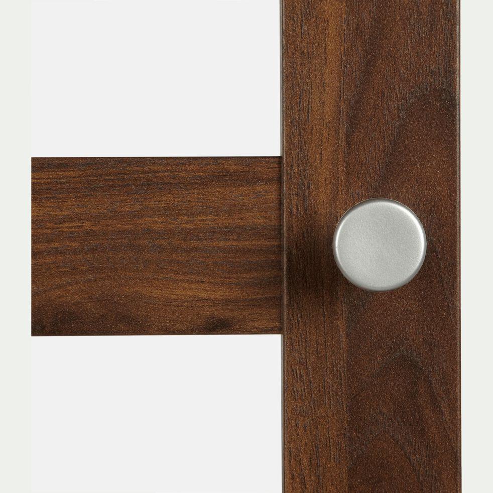 Grande porte vitrée en bois - noyer H191,7cm-BIALA