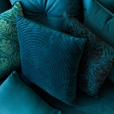 Coussin à motifs tissés en coton vert menthe 40x40 cm-AMPHORES