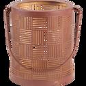 Lanterne en métal rouille H12cm-AUXANE