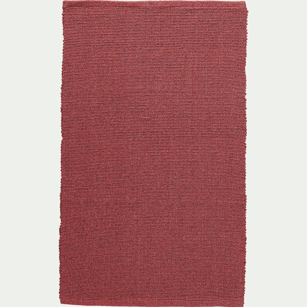 Descente de lit en coton - rouge ricin 50x80cm-CAMELIA