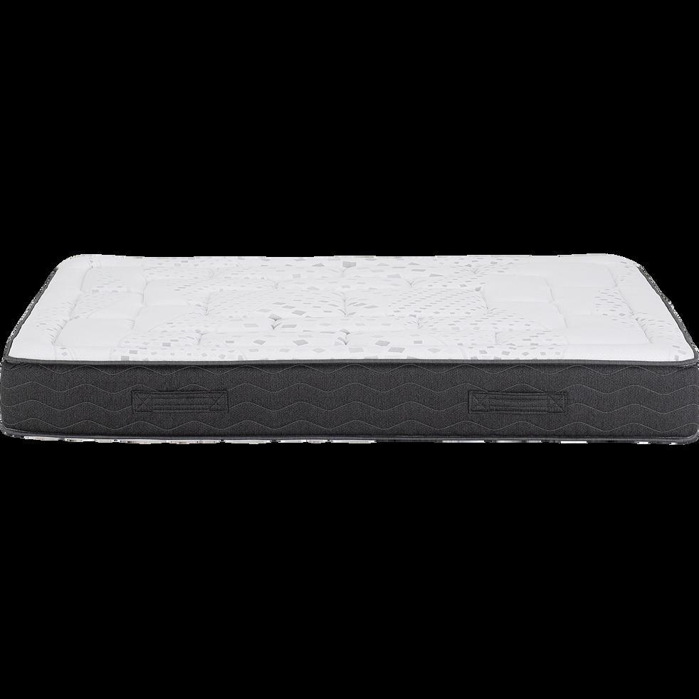 Matelas en mousse gris anthracite 140x200cm H24cm-MIRABEAU