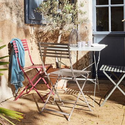 Chaise de jardin pliante taupe-CERVIONE