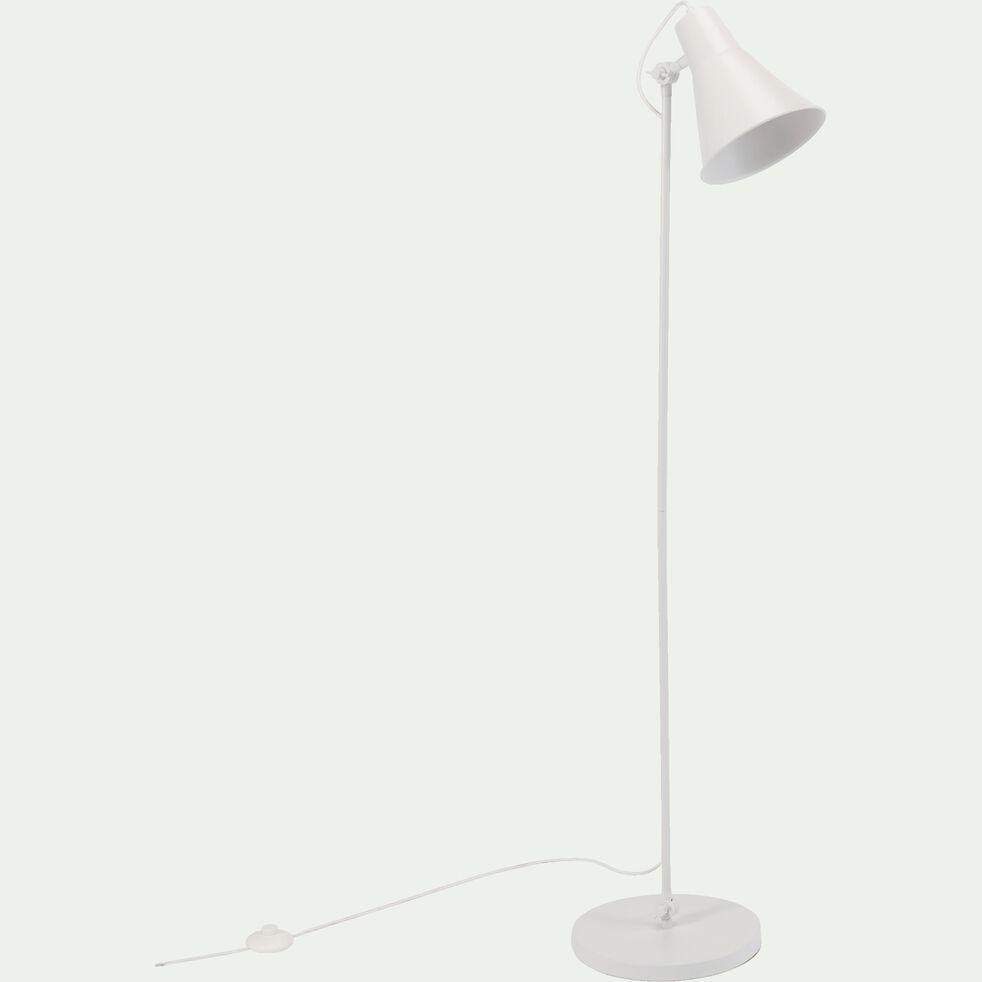 Lampadaire en métal - H140cm blanc-BEYA