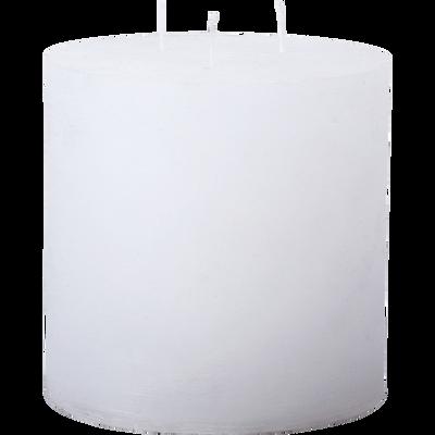 Bougie lanterne coloris blanc capelan D15xH15cm-BEJAIA