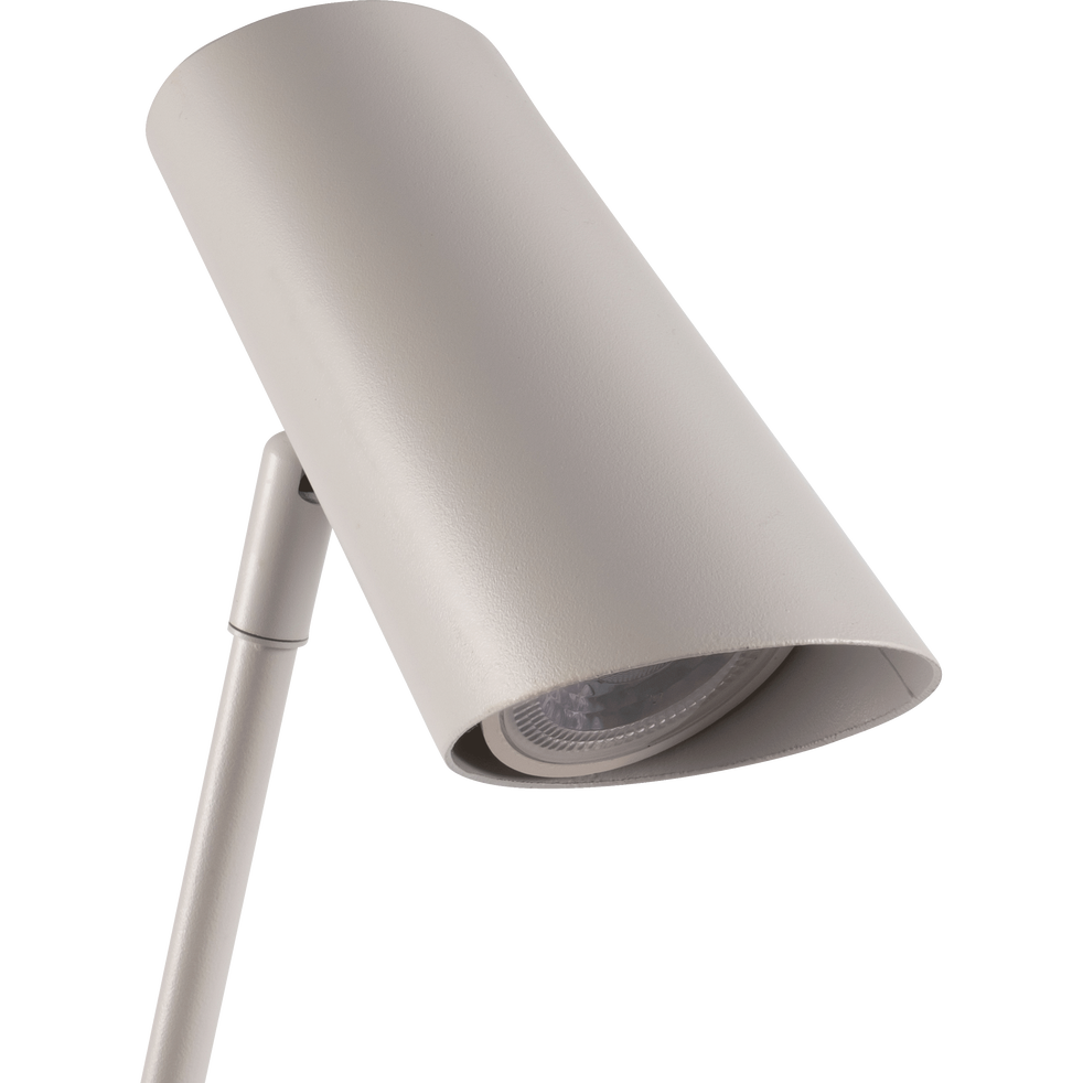 Lampadaire en métal blanc H137cm-HESTER